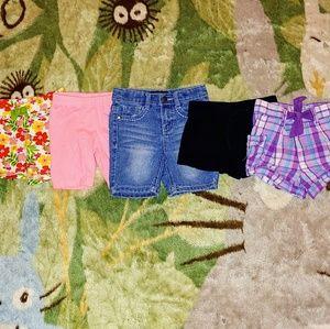 Used Bundle of 5 Girl's Shorts